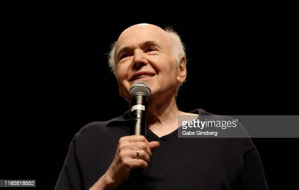 Actor Walter Koenig speaks during The Original Series panel at the 18th annual Official Star Trek Convention at the Rio Hotel Casino on August 02...