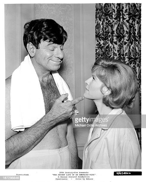Actor Walter Matthau and actress Anne Jackson on set of the 20th CenturyFox movie 'The Secret Life of an American Wife' in 1968