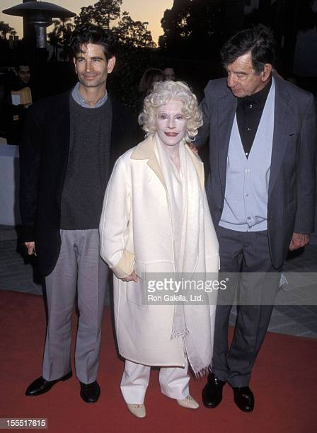 Actor Walter Matthau wife Carol Grace and son Charles Matthau attend The Odd Couple II Hollywood Premiere on April 6 1998 at Paramount Studios in...