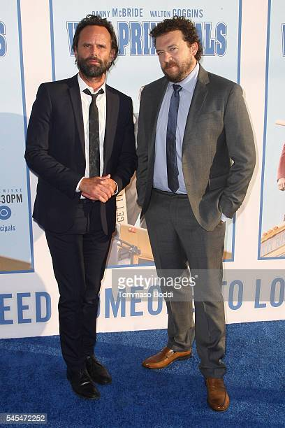 Actor Walton Goggins and Danny McBride attend the premiere of HBO's 'Vice Principals' at Avalon Hollywood on July 7 2016 in Los Angeles California