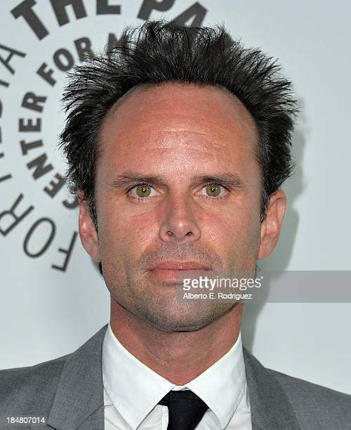 Actor Walton Goggins arrives at The Paley Center for Media's 2013 benefit gala honoring FX Networks with the Paley Prize for Innovation Excellence at...
