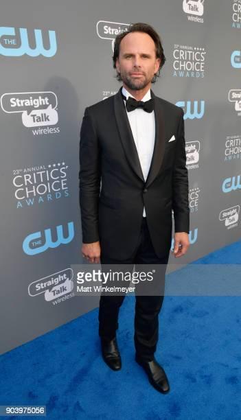 Actor Walton Goggins attends The 23rd Annual Critics' Choice Awards at Barker Hangar on January 11 2018 in Santa Monica California