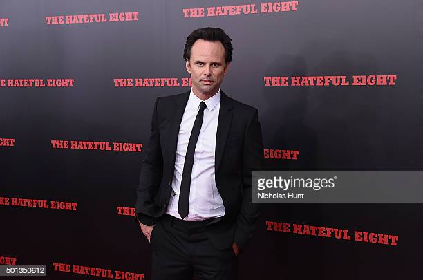 Actor Walton Goggins attends the New York premiere of 'The Hateful Eight' on December 14 2015 in New York City