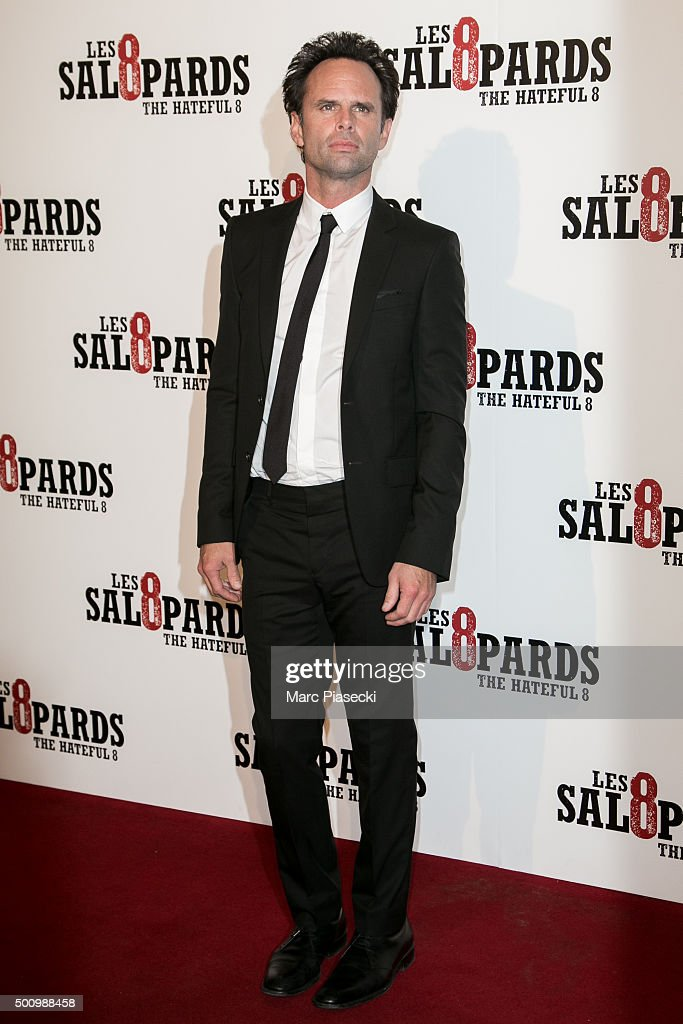 Actor Walton Goggins attends the 'The Hateful Eight' Premiere at Le Grand Rex on December 11, 2015 in Paris, France.