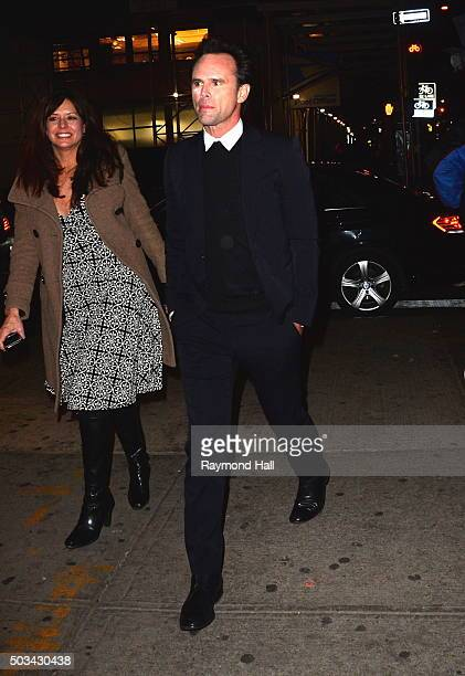 Actor Walton Goggins is seen arriving at 'TAO Downtown' on January 4 2016 in New York City