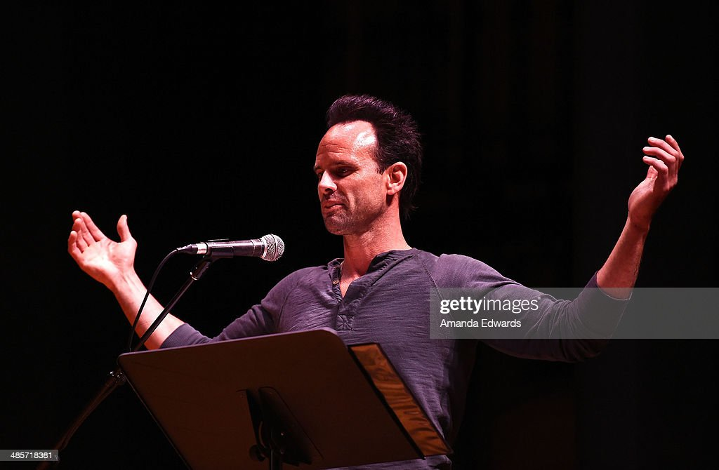 Actor Walton Goggins participates in the world premiere of a staged reading by Quentin Tarantino: 'The Hateful Eight' presented by Film Independent at The Theatre at Ace Hotel Downtown LA on April 19, 2014 in Los Angeles, California.