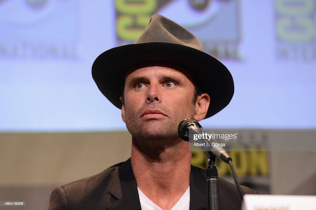 Actor Walton Goggins speaks onstage at Quentin Tarantino's 'The Hateful Eight' panel during Comic-Con International 2015 at the San Diego Convention Center on July 11, 2015 in San Diego, California.