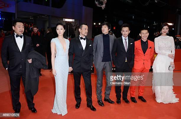 Actor Wang Jingchun actress Gwei Lun Mei actor Liao Fan director Diao Yinan actor Wang Xuebing actor Yu Ailei and actress Ni Jingyang attend the...