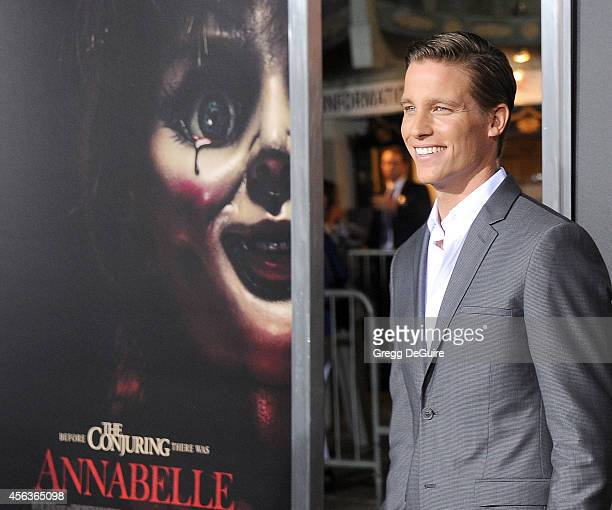 Actor Ward Horton arrives at the Los Angeles Special Screening Of New Line Cinema's Annabelle at TCL Chinese Theatre on September 29 2014 in...