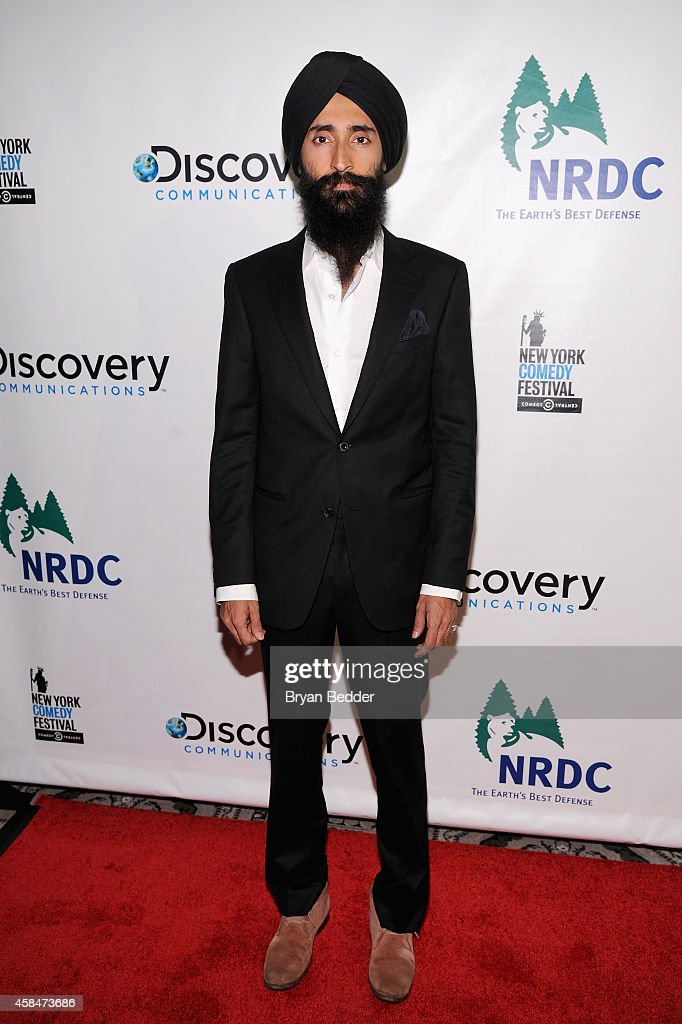 Actor Waris Ahluwalia attends NRDC's 'Night Of Comedy' benefiting the Natural Resources Defense Council at 583 Park Ave on November 5, 2014 in New York City.