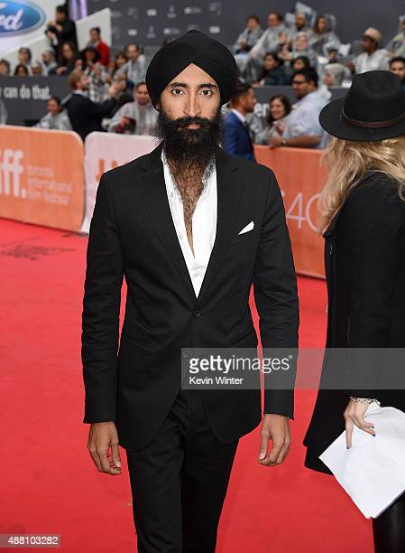 Actor Waris Ahluwalia attends the 'Beeba Boys' premiere during the 2015 Toronto International Film Festival at Roy Thomson Hall on September 13 2015...