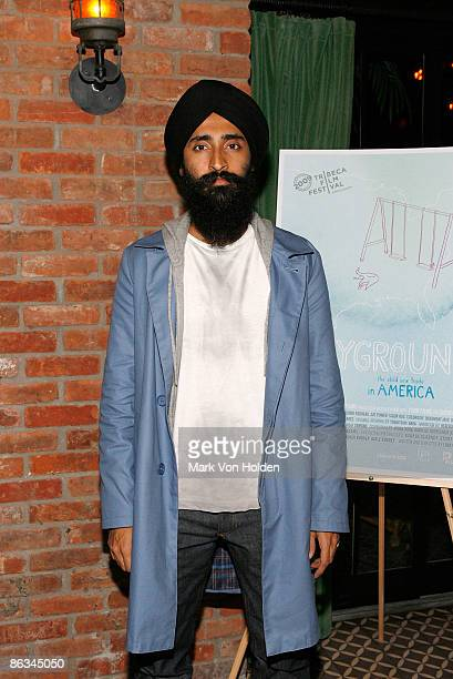 Actor Waris Ahluwalia attends the Playground screening gala at The Bowery Hotel on May 1 2009 in New York City