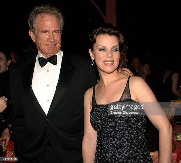 Actor Warren Beatty and actress Debi Mazar attend the HBO Post Emmy Party held at The Plaza at the Pacific Design Center on August 27, 2006 in West...
