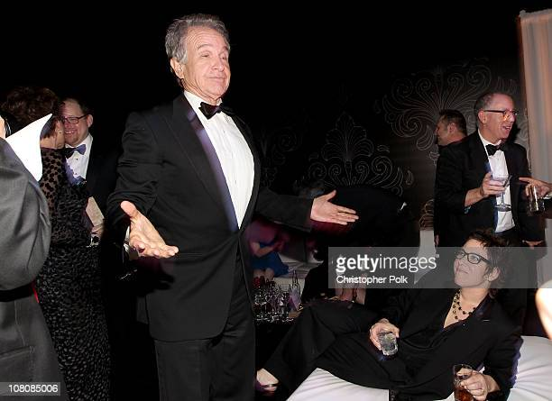 Actor Warren Beatty and director Lisa Cholodenko attends NBCUniversal/Focus Features Golden Globes Viewing and After Party sponsored by Chrysler held...