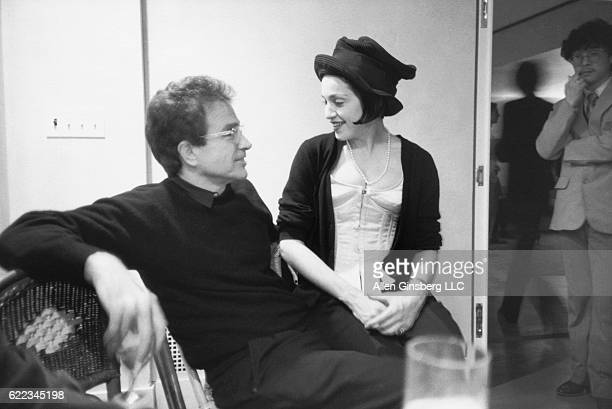 Actor Warren Beatty and Madonna chat at a New Year's Eve party at the home of artist Francesco Clemente in New York City
