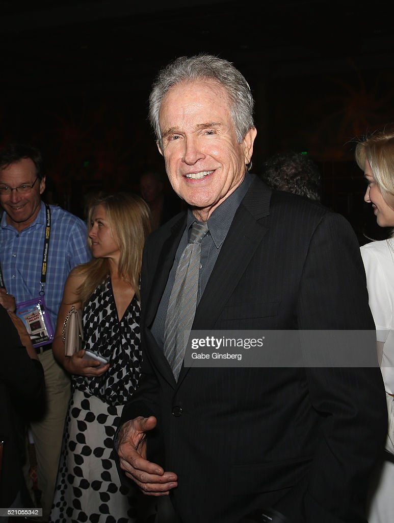 Actor Warren Beatty attends the CinemaCon Filmmaker Lunch Program at Caesars Palace during CinemaCon, the official convention of the National Association of Theatre Owners, on April 13, 2016 in Las Vegas, Nevada.
