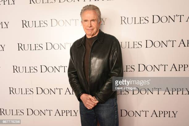 Actor Warren Beatty attends the 'Rules Don't Apply' screening and QA at Picturehouse Central on April 12 2017 in London United Kingdom