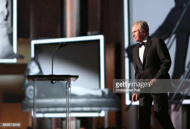 Actor Warren Beatty onstage during American Film Institute's 45th Life Achievement Award Gala Tribute to Diane Keaton at Dolby Theatre on June 8 2017...