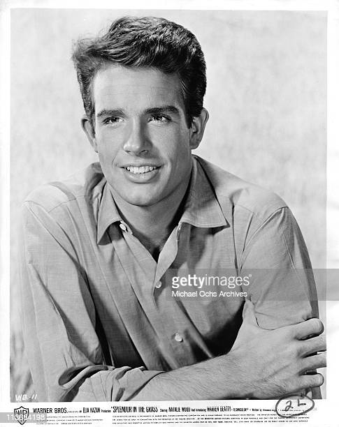 Actor Warren Beatty poses for a portrait to promote the movie 'Splendor in the Grass' in 1961 in Los Angeles California