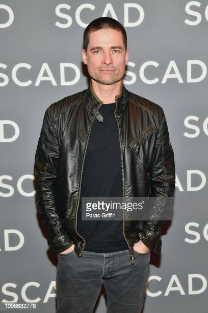Actor Warren Christie attends The Village press junket during SCAD aTVfest 2019 at Four Seasons Hotel on February 9 2019 in Atlanta Georgia