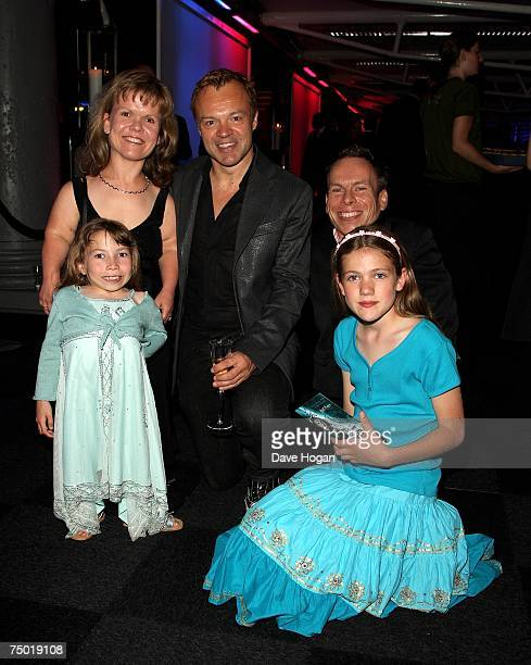 Actor Warwick Davis and his family and TV presenter Graham Norton attend the after party following the European premiere of Harry Potter And The...