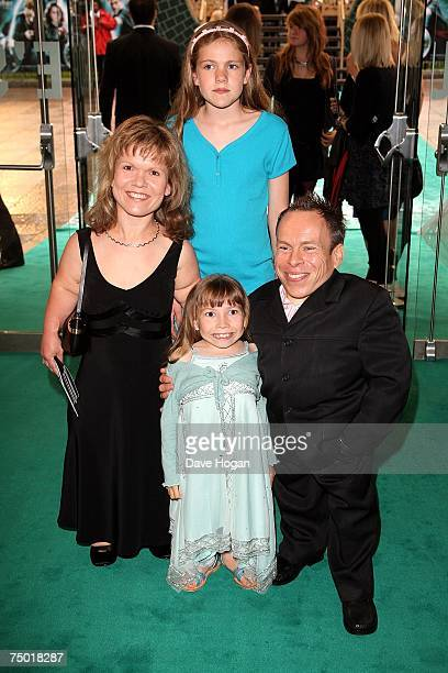 Actor Warwick Davis and his family arrive at the european premiere of Harry Potter And The Order Of The Phoenix at Odeon Leicester Square on July 3...