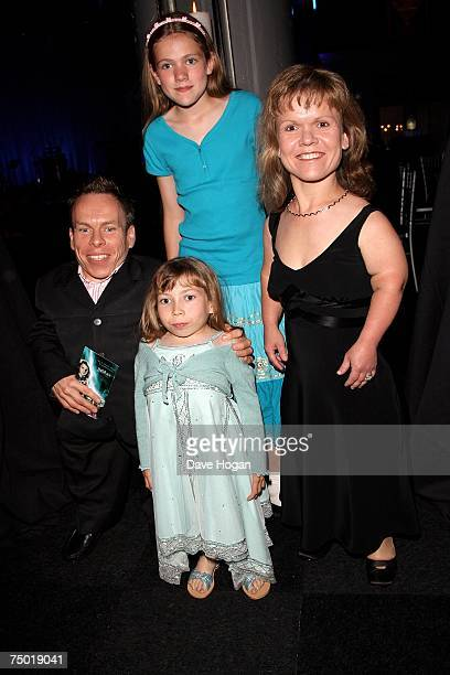 Actor Warwick Davis and his family attend the after party following the European premiere of Harry Potter And The Order Of The Phoenix at the Old...
