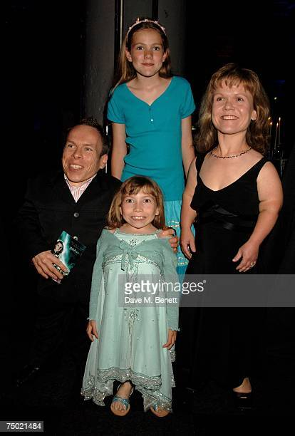 Actor Warwick Davis and his family attend the after party following the European film premiere of 'Harry Potter and the Order of the Phoenix' at the...