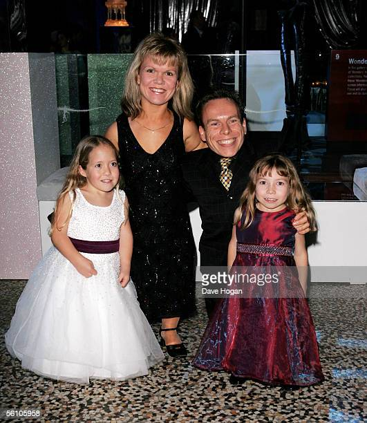 Actor Warwick Davis and his wife actress Samantha Davis and their daughters attend the party for the World Premiere of 'Harry Potter And The Goblet...