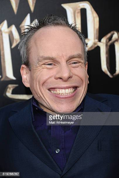 Actor Warwick Davis attends Universal Studios' Wizarding World of Harry Potter Opening at Universal Studios Hollywood on April 5 2016 in Universal...