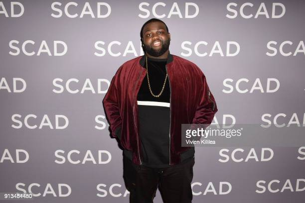 Actor Wavyy Jonez attends a press junket for 'Unsolved The Murders of Tupac and The Notorious BIG on Day 2 of the SCAD aTVfest 2018 on February 2...