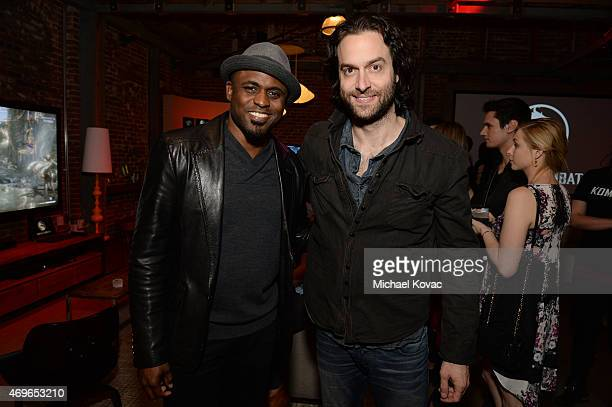 Actor Wayne Brady and comedian Chris D'Elia attend the Mortal Kombat X Tournament at The Microsoft Lounge on April 13 2015 in Venice California