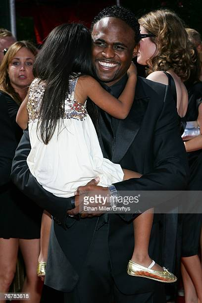 Actor Wayne Brady and daughter arrive at the 59th Annual Primetime Emmy Awards at the Shrine Auditorium on September 16 2007 in Los Angeles California