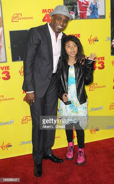 Actor Wayne Brady and daughter arrive for the Los Angeles Premiere of Movie 43 held at Grauman's Chinese Theaterl on January 23 2013 in Hollywood...