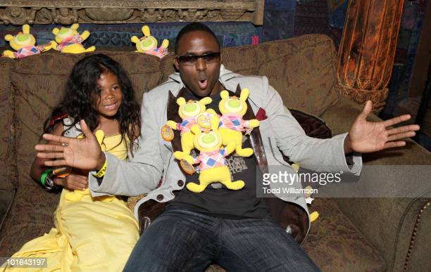 Actor Wayne Brady and daughter attend the Melanie Segal's Celebrity SOS Lounge at House of Blues Sunset Strip on June 4 2010 in West Hollywood...