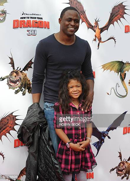 Actor Wayne Brady and daughter Maile arrive for the premiere of DreamWorks' How To Train Your Dragon at the Gibson Amphitheater in Universal City...