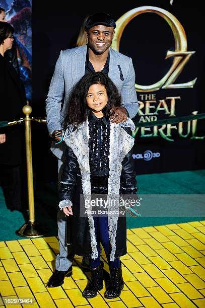 Actor Wayne Brady and daughter Maile Masako Brady arrive at the Los Angeles Premiere of Oz The Great and Powerful at the El Capitan Theatre on...