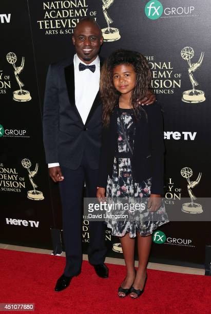 Actor Wayne Brady and daughter Maile Masako Brady attend the 41st Annual Daytime Emmy Awards at The Beverly Hilton Hotel on June 22 2014 in Beverly...