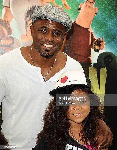 Actor Wayne Brady and daughter Maile Masako Brady attend the premiere of ParaNorman at AMC CityWalk Stadium 19 at Universal Studios Hollywood on...