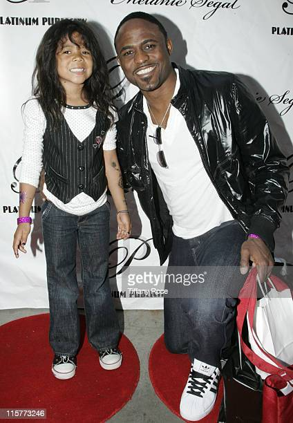 Actor Wayne Brady and his daughter Maile Brady attend day 1 of Melanie Segal's Kids' Choice Awards Lounge presented by Stouffer's at The Magic Castle...