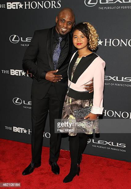 Actor Wayne Brady and Maile Masako Brady arrive at the 2015 BET Honors at the Warner Theatre on January 24 2015 in Washington DC