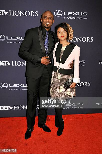 Actor Wayne Brady and Maile Masako Brady attend The BET Honors 2015 at Warner Theatre on January 24 2015 in Washington DC