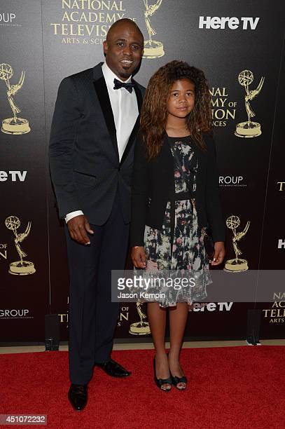 Actor Wayne Brady and Maile Masako Brady attends The 41st Annual Daytime Emmy Awards at The Beverly Hilton Hotel on June 22 2014 in Beverly Hills...