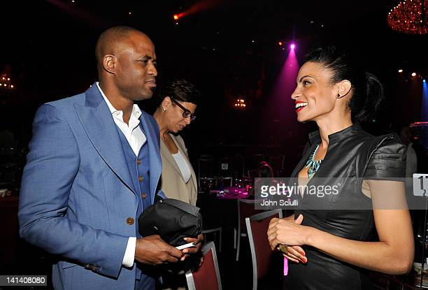Actor Wayne Brady and Singer Goapele attend UNICEF Playlist With The AList at El Rey Theatre on March 15 2012 in Los Angeles California