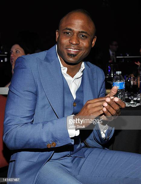 Actor Wayne Brady attends UNICEF Playlist With The AList at El Rey Theatre on March 15 2012 in Los Angeles California