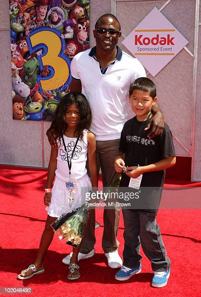 Actor Wayne Brady daughter Maile Masako and guest arrive at premiere of Walt Disney Pictures' Toy Story 3 held at El Capitan Theatre on June 13 2010...