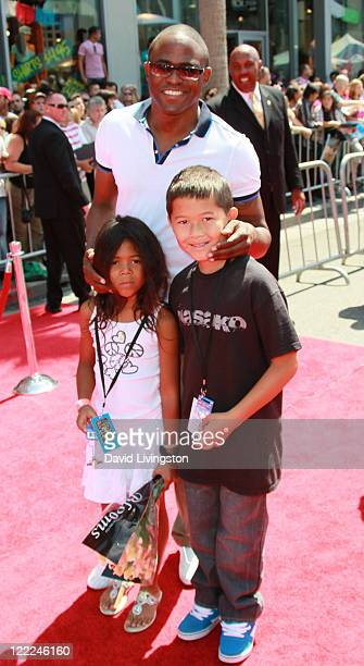 Actor Wayne Brady daughter Maile Masako Brady and guest attend the Los Angeles premiere of Toy Story 3 at the El Capitan Theatre on June 13 2010 in...