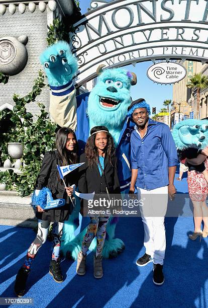 Actor Wayne Brady daughter Maile Masako Brady and guest attend The World Premiere Tailgate Party for DisneyPixar's Monsters University at the El...