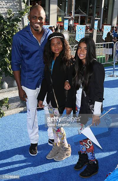Actor Wayne Brady daughter Maile Masako Brady and guest attend the premiere of Disney Pixar's Monsters University at the El Capitan Theatre on June...
