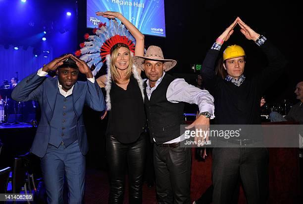 Actor Wayne Brady TV personality Heidi Klum actors Jon Huertas and Seamus Dever attend UNICEF Playlist With The AList at El Rey Theatre on March 15...